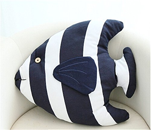 Tropical Fish Shaped Nautical Pillow Decorative Throw Pillows Couch Sofa Decoration 18'' x 15'' Inch