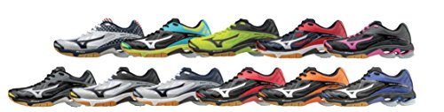 Mizuno Women's Wave Lightning Z2 Volleyball Shoe, Black/Red, 8 D US