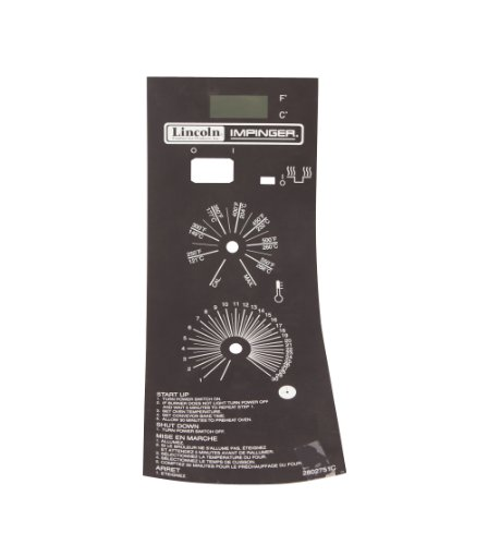 Lincoln 370131 Gas Oven Label