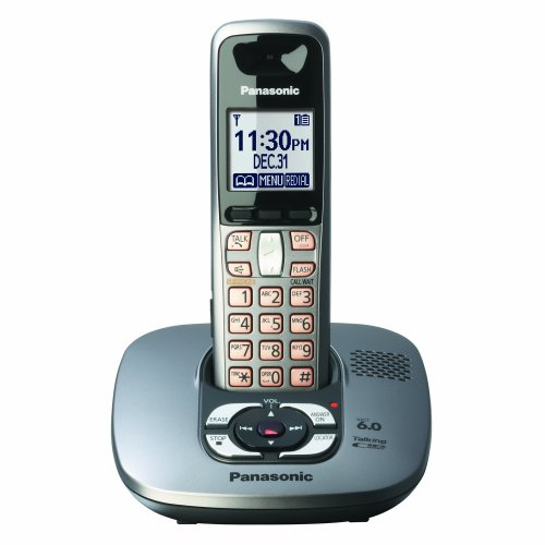 Panasonic Dect 6.0 Dark Grey Cordless Phone with Answering Machine (KX-TG6431M)