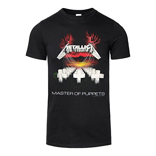 Adulti Ufficiale METALLICA T Camicia Ufficiale Master of puppets Rock Band Top Tee Black Medium
