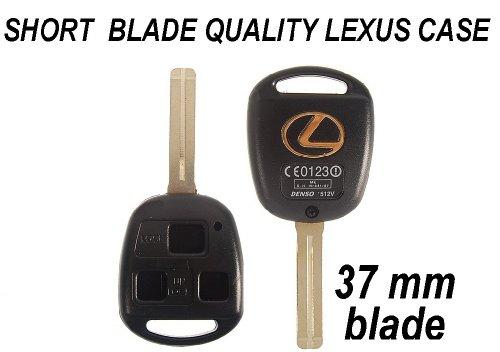 New 3 Buttons 37Mm Short Blade Shell Keyless Remote Key For Lexus Is300 Lx Rx Es Gx Sc (Clbt/C/245/2002 ; Denso 1512V)