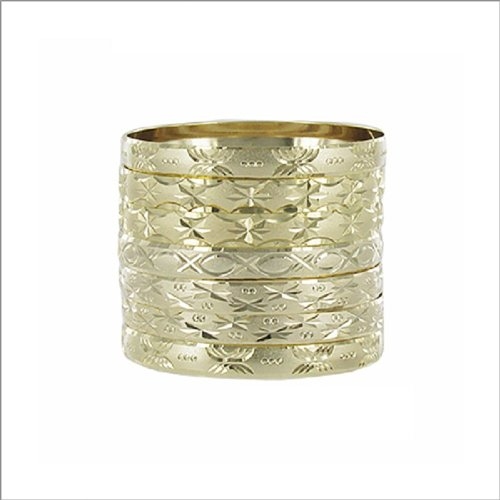 JOA 7 Pc. Gold Plated Bangle Bracelet Set #039565