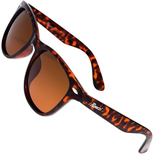 Rivacci Unisex's Wayfarer Tortoise Frame / Brown Lens Medium 49mm Polarized Sunglasses (80s Outfits For Sale)