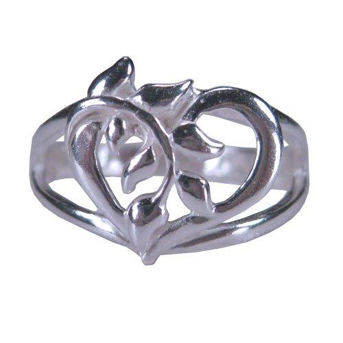 Tomas Sterling Silver Heart Vine Ring - 8