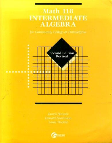 Math 118: Intermediate Algebra