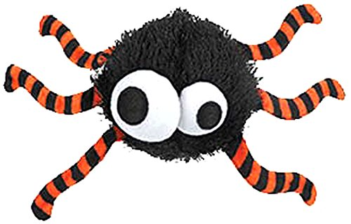 Grriggles Spooky Time Spider Toy for Pets, Black