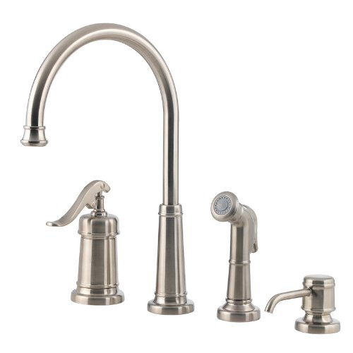 Pfister T26-4YPK Ashfield FourHole Kitchen Pull Out Spray Faucet
