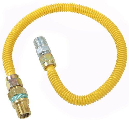 Plumb Shop Brasscraft CSSD44E-36P 1/2-Inch MIP x 1/2-Inch MIP x 36-Inch Gas Connector