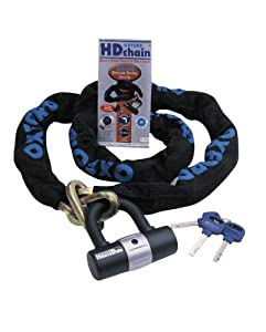 Oxford Heavy Duty Chain and Padlock 1m