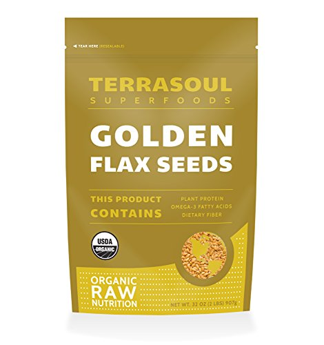 Terrasoul Superfoods Organic Golden Flax Seeds, 2 Pounds (Golden Flax From Canada compare prices)