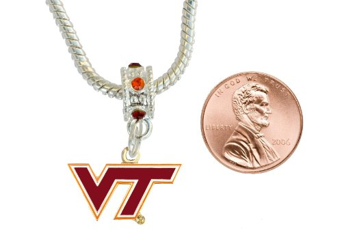 Virginia Tech Hokies Gold Tone Charm  Connector