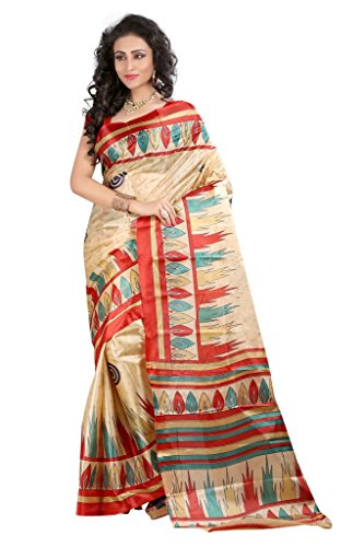 Sai Fab Women's Branded Indian Style Premium Georgette Multi-Coloured Printed Elegant Saree With Blouse Piece ( Best Present For Mom, Sister, Wife, Friend, Girl Friend )  available at amazon for Rs.239