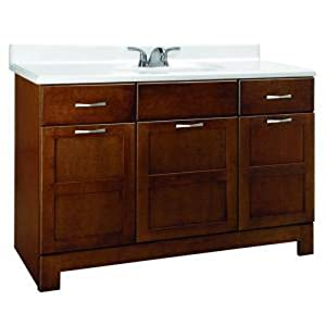 Classics by RSI CACO48DY Casual 48-Inch W Vanity Cabinet Only, Cognac