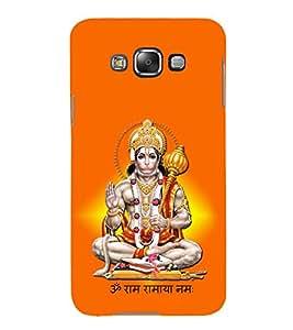 Sri Hanuman 3D Hard Polycarbonate Designer Back Case Cover for Samsung Galaxy E7 :: Samsung Galaxy E7 E700F (2015)
