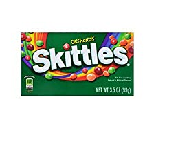 New Orchards Skittles Bite Size Candies 3.5oz Box(pack of 12)
