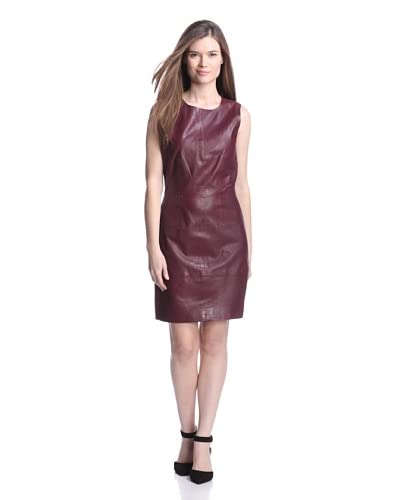 W118 by Walter Baker Women's Brandi Leather Sheath  [Burgundy]