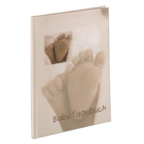 hama-baby-tagebuch-baby-feel-fur-jungen-und-madchen-album-20-5-x-28-cm-babytagebuch-mit-44-illustrie