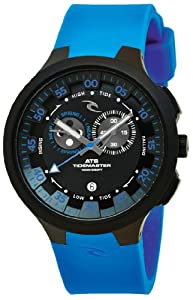 Rip Curl Men's A1103 - BLU K38 Tidemaster Silicone Blue Analog Tide Surf Watch