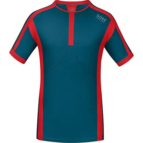 GORE RUNNING WEAR, Maglia Corsa Uomo, Maniche corte, Ultraleggera, GORE Selected Fabrics, Air, Taglia M, Blu/Rosso, SMAIRS293504