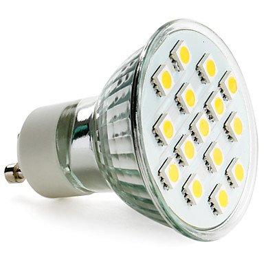 Gu10 2.5W 15X5050 Smd 150-200Lm 2800-3200K Warm White Light Led Spot Bulb (230V)