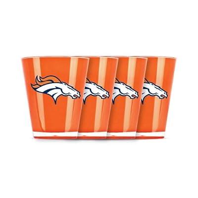 NFL Denver Broncos Shot Glass Set (4-Piece)