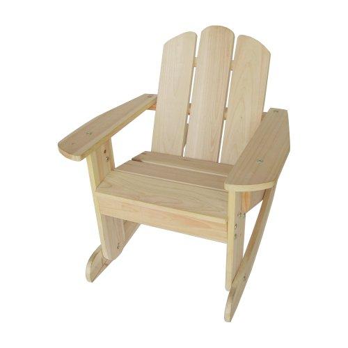 Lohasrus Kids Rocking Chair, Natural front-9035