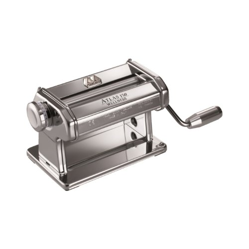 Atlas Made in Italy Pasta Roller, Stainless Steel, Silver, Includes 150-Millimeter Pasta Roller with Hand Crank and Instructions, 10-Year Warranty (Made Pasta compare prices)