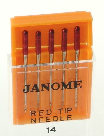 Janome Red Tip 5 Needle Pack Size 14 (Thread Janome compare prices)