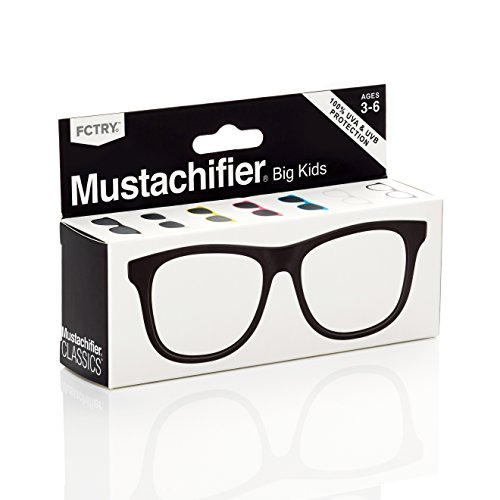 buy Mustachifier Baby Opticals UV Glasses - Black, Ages 3-6 for sale