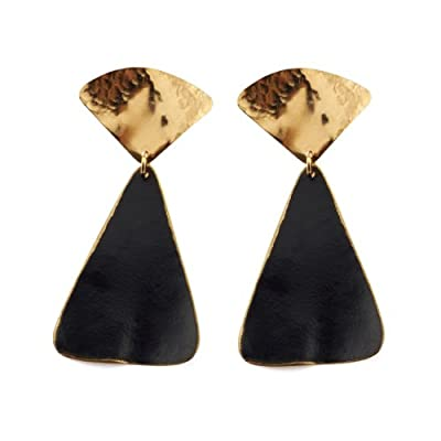 Triangle Gold Stud Earrings by Sibilia
