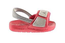 Jordan Hydro 3 BT Baby Toddlers Sandals Metallic Silver/Black-Legion Red 630761-019 (10 M US)