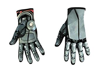Morris Costumes Optimus Prime Child Gloves Metallic-Look Gloves One Size Fits Most Professional