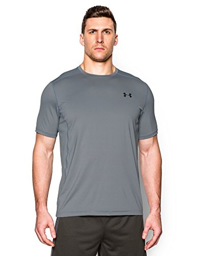 Under Armour Men's Raid Short Sleeve T-Shirt, Steel (037), Medium