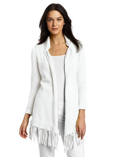 Pure Handknit Women's California Dreaming Cardigan Sweater, Sugar Magnolia White, Medium