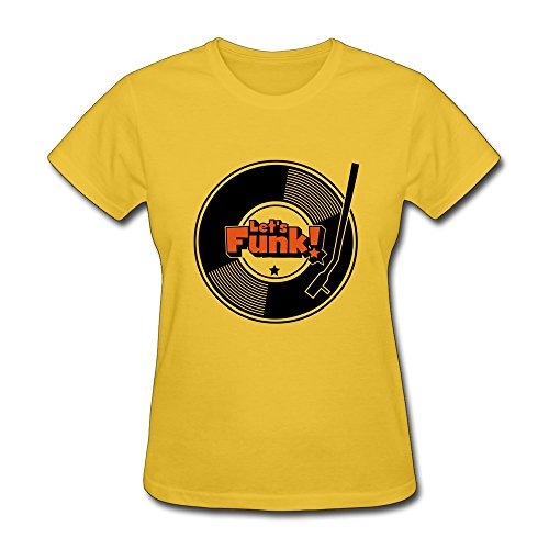 Ptcy Women'S T Shirt Lets Funk Us Size S Gold front-533700