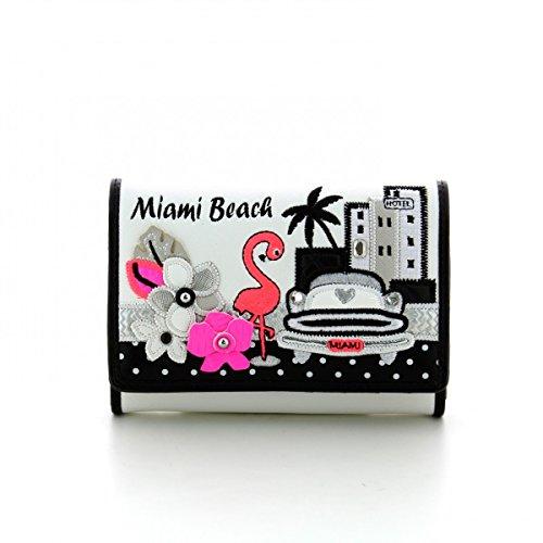 Portafoglio Braccialini Cartoline con patta Miami Beach