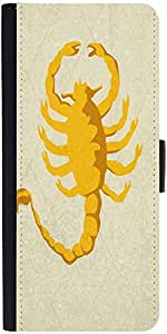 Snoogg Scorpion Yellow 2785 Designer Protective Phone Flip Case Cover For Samsung Galaxy J2