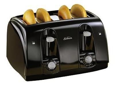 Sunbeam 3911 4-Slice Wide Slot Toaster, Black by Sunbeam