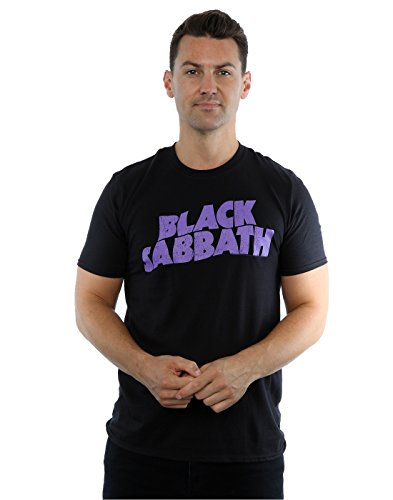 Black Sabbath Uomo Wavy Logo Maglietta Large Nero