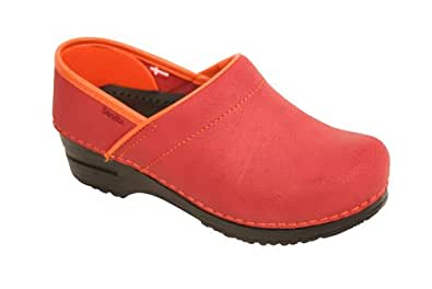 Sanita Women's Professional Electra Clogs,Red,43 M EU / 12 B(M) US