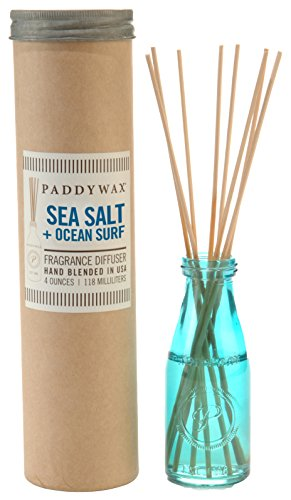 Paddywax Oil Diffuser Jar, Aqua Sea Salt and Ocean Surf