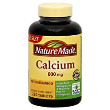 Nature Made Calcium with Vitamin D, 600 mg, Tablets, 220 ct.
