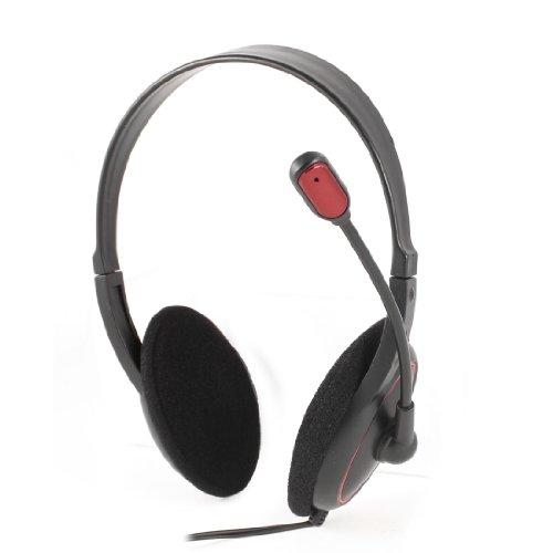 Black 2M 6.6Ft Cable Dual 3.5Mm Jack Plug Stereo Headphones Headset