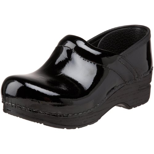 Dansko Gitte Patent Clog (Toddler/Little Kid/Big Kid),Black Patent Leather,34 Eu (3.5-4 M Us Big Kid) front-476722