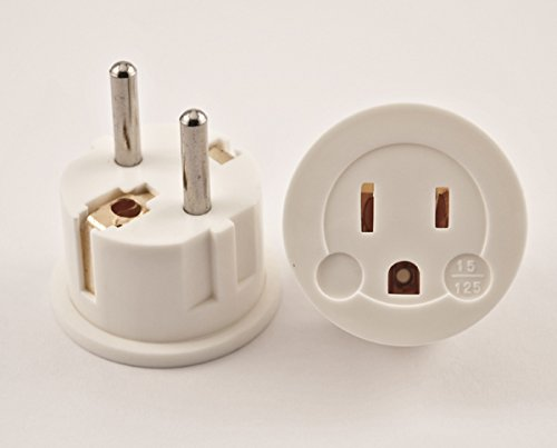 Vct - Plug Adapter - Converts Grounded Usa Plugs To Europe Plug-German Shucko Plug (Vp 11W)