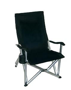 Deluxe Heavy Duty Folding Lawn Chair Black Kitchen Home