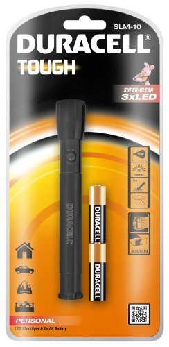 Duracell Tough Slim Led Torch With 2 Aa Batteries - Slm-10