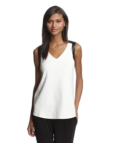 Drew Women's Top with Faux Leather Trim