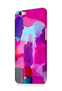 Cover Affair Texture / Paint Printed Back Cover Case for Oppo F1s